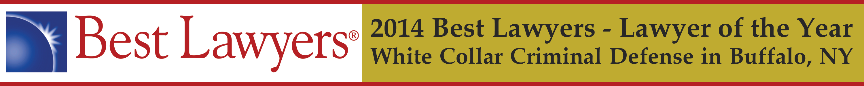 2014 Best Lawyers Lawyer of the Year White Collar Criminal Defense Buffalo NY