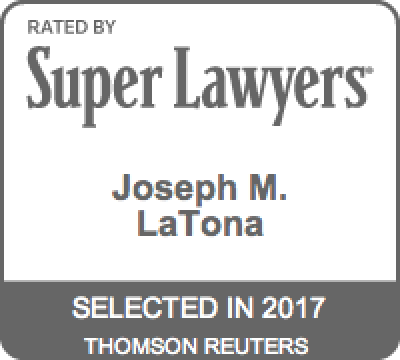 Joseph LaTona Super Lawyers Badge 2017