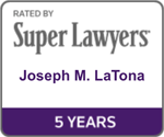 Joseph LaTona Super Lawyers Badge 5 Years